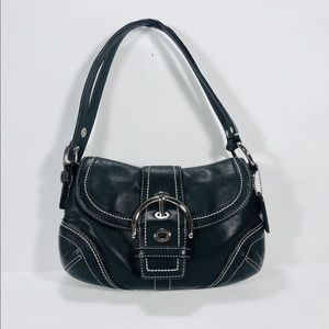 Coach 10577 Black Leather Soho Hobo Shoulder Bag